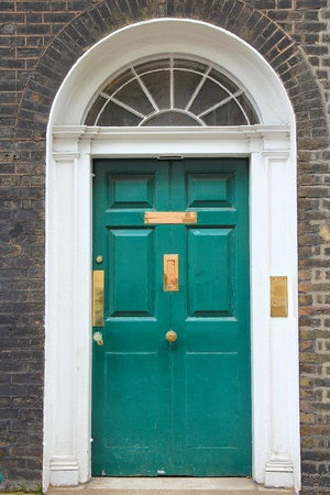 London, United Kingdom - typical Georgian architecture door. photo