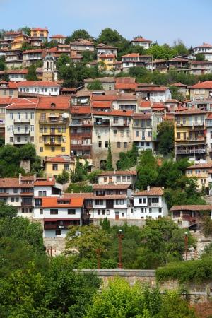 veliko: Veliko Tarnovo in Bulgaria. Famous town located on three hills. Stock Photo