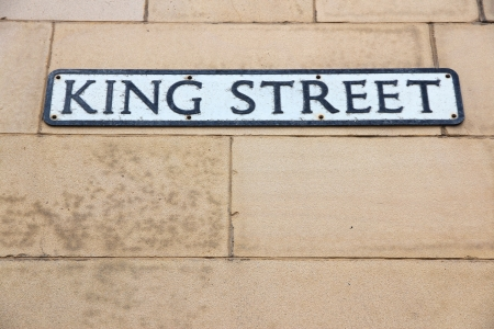king street: Liverpool - city in Merseyside county of North West England (UK). King Street sign. Stock Photo