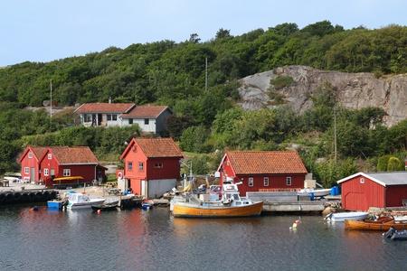 kristiansand: Norway - Skjernoy island in the region of Vest-Agder. Small fishing harbour - Dyrestad.