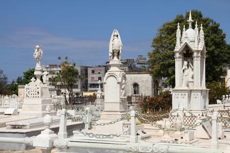 cristobal colon: Cuba - the main cemetery of Havana. Necropolis Cristobal Colon. Stock Photo