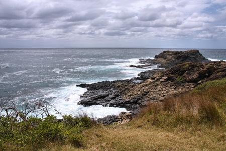 kiama: Coast in Australia - rock cape in Kiama, New South Wales Stock Photo