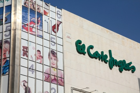 VALENCIA, SPAIN - OCTOBER 9: El Corte Ingles department store on October 9, 2010 in Valencia, Spain. El Corte Ingles is the biggest department store group in Europe and 4th worldwide. It exists since 1940.