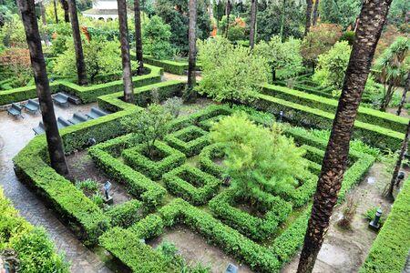 Seville, Spain - Royal Alcazar gardens photo