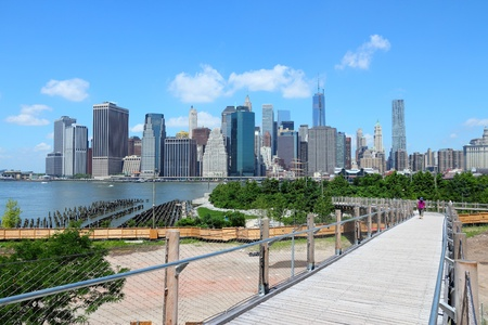 New York City, United States - Manhattan skyline from Brooklyn Heights photo