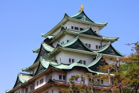 prefecture: Nagoya, Japan - city in the region of Chubu in Aichi prefecture. Nagoya-jo castle.