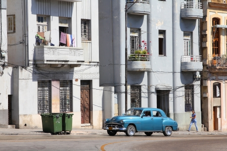 resulted: HAVANA - FEBRUARY 26: People drive old car on February 26, 2011 in Havana. Recent change in law allows the Cubans to trade cars again. Old law resulted in very old fleet of private owned cars in Cuba. Editorial