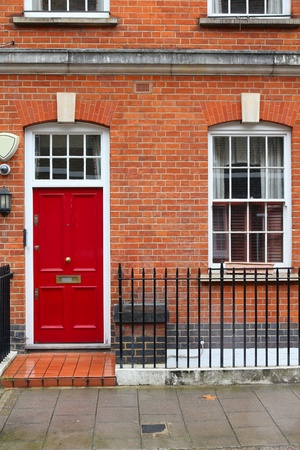 London, United Kingdom - typical Victorian architecture door. photo