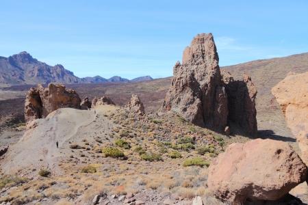 garcia: Tenerife, Canary Islands, Spain. Roques de Garcia - rock formations in volcano Teide National Park.