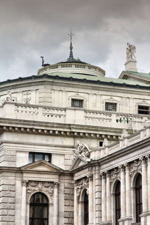 Vienna, Austria - Burgtheater theatre. The Old Town is a UNESCO World Heritage Site. photo
