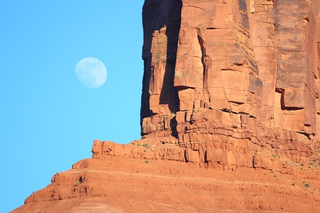 Utah, United States - red rock and moon Stock Photo - 22096914