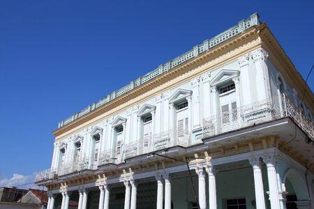 Sancti Spiritus, Cuba - colonial architecture at the city\ square
