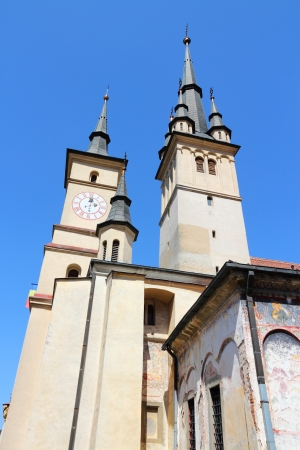 'saint nicholas': Brasov, town in Transylvania, Romania. Saint Nicholas church.