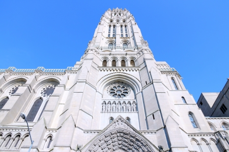 New York City, United States - inter-denominational Riverside Church in Morningside Heights neighborhood of Upper West Side