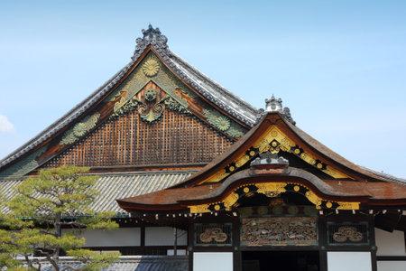 nijo: Kyoto, Japan - old Japanese architecture of Nijo Castle. Ninomaru Palace.
