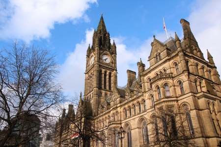 townhall: Manchester - city in North West England (UK). City Hall.