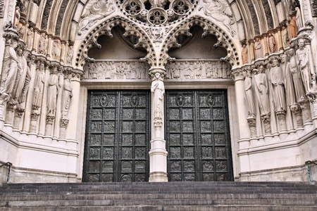 New York City, United States - Cathedral of St. John the Divine, head church of Episcopal Diocese of New York photo