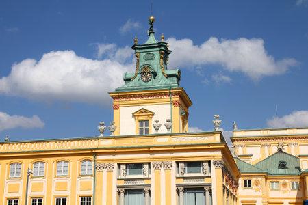 warszawa: Warsaw, Poland. Famous Wilanow palace exterior. Old landmark.