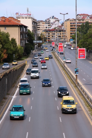 capita: SOFIA, BULGARIA - AUGUST 17: People drive on August 17, 2012 in Sofia, Bulgaria. Bulgaria has 393 vehicles per capita. The number has grown fast in recent years.