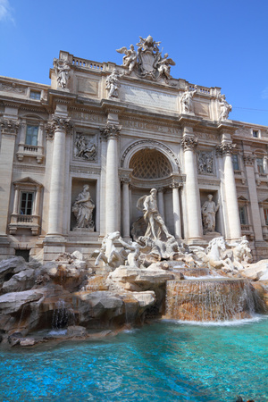 Rome, Italy - famous Trevi fountain. Fontana di Trevi. photo