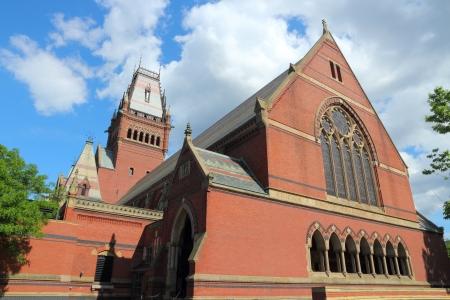 educational institution: Cambridge, Massachusetts in the United States. Famous Harvard University - Memorial Hall. Stock Photo