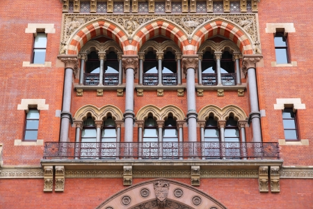 London, United Kingdom - famous St. Pancras railway station building photo