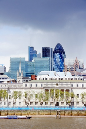 London skyline, United Kingdom - cityscape with modern buildings photo
