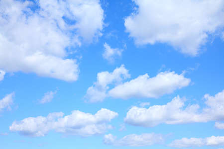 skyscape: Beautiful blue sky and white clouds. Idyllic background abstract.