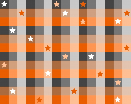 Checkered background illustration with stars. Colorful checkered seamless pattern for a wrapping paper. Vector