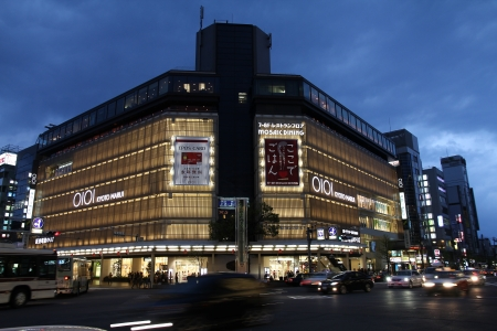 KYOTO, JAPAN - APRIL 19: People visit Marui department store on April 19, 2012 in Kyoto, Japan. Kyoto is the former capital city of Japan, currently its 6th most populous city with 1.47 million citizens.