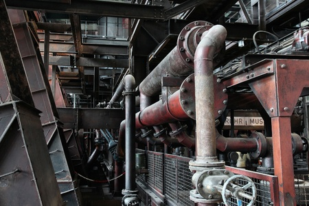 coking: Industrial area Zollverein in Essen - city in Ruhrgebiet (Ruhr Metropolitan Region) in Germany. Former coal mine, now cultural landscape