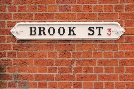 street name sign: Birmingham - Brook street sign. West Midlands, England.