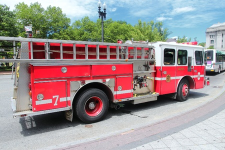 responded: PROVIDENCE, RI - JUNE 8: Fire truck on June 8, 2013 in Providence, Rhode Island. In 2009, the PFD responded to about 43,000 emergency calls.