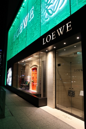 lvmh: NAGOYA, JAPAN - APRIL 27: Loewe store on April 27, 2012 in Nagoya, Japan. The fashion company was founded in 1846. LVMH Group (parent company) had 23.6 billion EUR revenue in 2011. Editorial