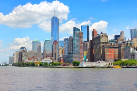 New York City, United States - Manhattan skyline with new WTC One. photo