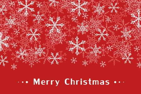 Christmas greeting card design with snow flakes. Sample text copyspace. Vector