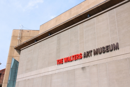 notable: BALTIMORE - JUNE 12: Walters Art Museum building on June 12, 2013 in Baltimore. It was founded in 1934 and is a notable example of free admission museum.