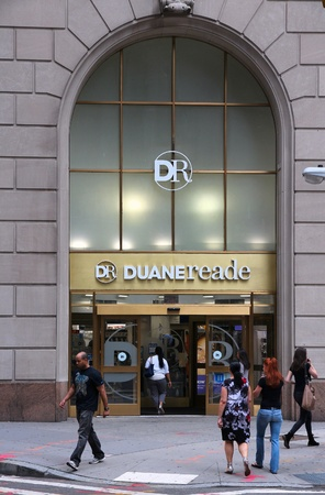 convenience store: NEW YORK - JUNE 2: People visit Duane Reade pharmacy and convenience store on June 2, 2013 in New York. DR was founded in 1960 and acquired by Walgreen Company in 2010.