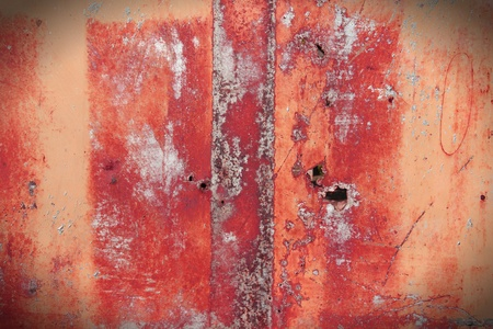 Rusty metal grunge background. Rusted steel tin abstract pattern. photo