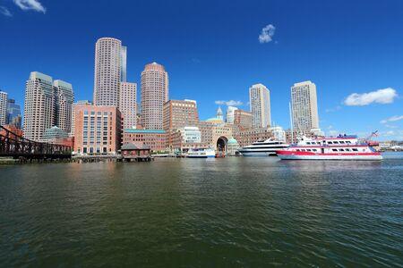 Boston, Massachusetts in the United States. City skyline. photo