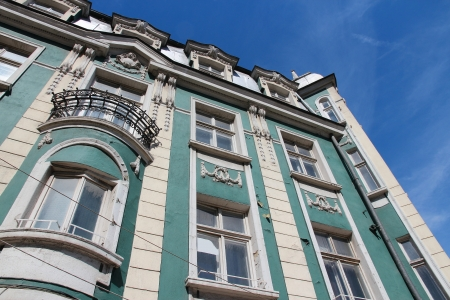 Sofia, Bulgaria - old apartment building, city residential architecture