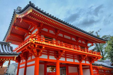 Kyoto, Japan - Yasaka shrine HDR image. Old landmark.