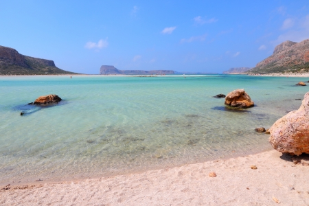 Coast of Crete island in Greece. Famous Balos lagoon. photo