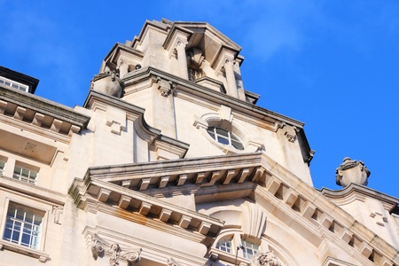 listed buildings: Manchester - city in North West England (UK). St. James Buildings, Grade II listed monument. Edwardian Baroque style landmark made of Portland stone.