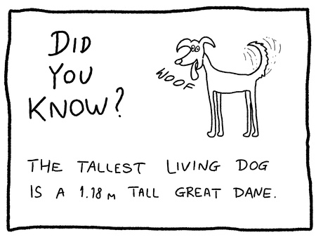 Fun fact trivia - useful doodle cartoon illustration usable as a webcomic or for funny section of a newspaper. Vector