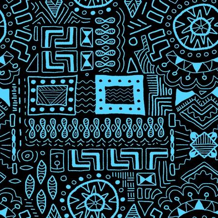 Aboriginal art background - indigenous African patterns seamless texture Vector