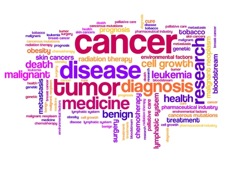 Cancer illness concepts word cloud illustration. Word collage concept.