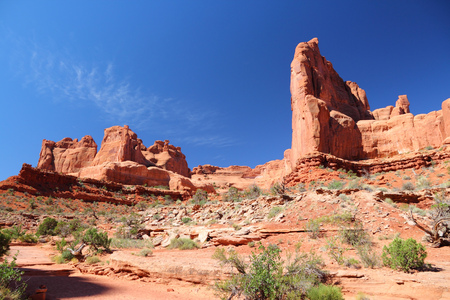 Arches National Park in Utah, USA. Famous Park Avenue trail. Stock Photo - 26004810