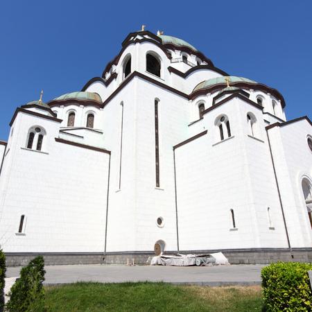 Belgrade, Serbia - Saint Sava Orthodox Cathedral. Neo-Byzantine architecture. Vracar district. photo