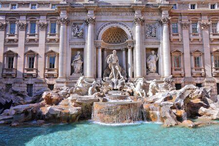 Rome, Italy - famous Trevi fountain. Fontana di Trevi. photo